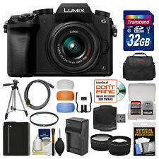 Panasonic Lumix DMC-G7 4K HD Wi-Fi Digital Camera & 14-42mm Lens Kit Black
