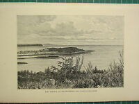 C1890 Antico Stampa ~ Fort Simpson Al Mackenzie & Liards Confluence