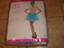 BLUE NEON GNOME ELF PIXIE Women's Halloween Costume Set NEW ONE SZ FITS MOST