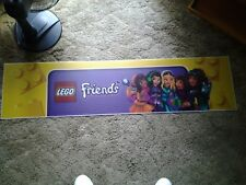 Lego Friends Toys R Us Acrylic Plastic Display Banner Sign