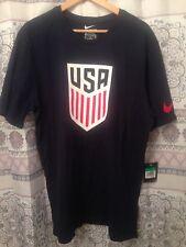 "Nike Tee USA Soccer Tshirt XL Mens T Shirt 48"" Bavy Blue Futbol Crest"