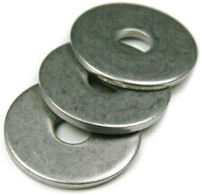 Stainless Steel Fender Washers Extra Thick Washers SAE Inch Sizes 1/4