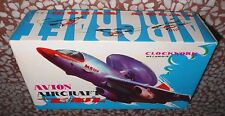 TIN TOY RED CHINA MS 134  WIND UP AIRCRAFT CLOCKWORK KEY 70'S