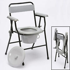 Portable & Easy To Store, Folding, Lightweight Sturdy Chair Commode