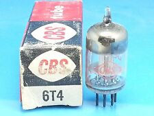 CBS 6T4 VACUUM TUBE SINGLE 1 PCS ABSOLUTELY NOS NIB