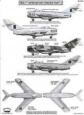 Berna Decals 1/48 MIKOYAN MiG-17 FRESCO Fighter African Air Forces Part 2