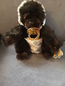 Dakin Stuffed Animal Baby Goo Goo Gorilla with Pacifier Vintage 1993 with Tags