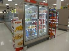 Hussmann RLN-2 ReachIn Glass Display Freezer Cooler Grocery Frozen Ice Cream LED