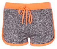 New Womens Ladies Fleck Summer Holiday Hot Pants Workout Runner Shorts
