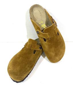 Birkenstock Boston BS Women's Size 7 (EU38)N Fit Mink Suede Clog Shoes S1-556*