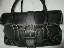 Coach 9550 Handbag Purse Carryall Flap Satchel SOHO Buckle Black Leather
