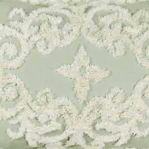 """Florence Chenille Bedspread King 120""""X110"""" in Color - Sage"""