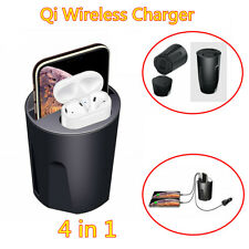 For iPhone QI Vehicle Automatic Wireless Charger Phone Fast Charging Cup Holder
