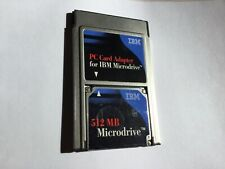 1pcs 512mb IBM Microdrive+PCMCIA ADAPTER Compactflash CF TYPE II memory card