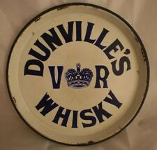 Victorian Dunville's Enamel Whisky Tray By Patterson Of Belfast - Antique, VGC
