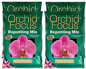 Orchid Focus Repotting Mix Peat Free Concentrated Food Feed Compost Nutritious