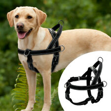 Black Dog Harness Reflective No Pull Front Leading Harness for Labrador Pitbull