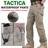 New Soldier Tactical Waterproof Pants Men Cargo Work Trousers Combat Outdoor