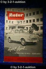 Motor Rundschau 7/61 Saxomat im Volkswagen Automobilsalon Genf Scheibenbremse