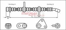 Bremsschlauch für Bremsanlage Vorderachse METZGER 4113501