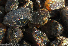 "2 LB BLACK AMBER Rough Large 2.5-4"" Rock for Tumbling Tumbler Stones 4500+ Ct"
