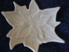 """Porcelain Trinket Pin Dish Vintage Leaf Shaped 3 1/2""""  CL31-35"""