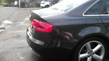 Painted Gloss Black Audi A4 S4 B8 2007-2015 Boot Lip Spoiler  UK Seller