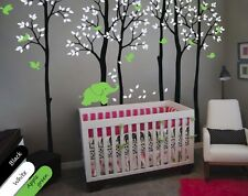 Birch trees with elephant and birds Nursery decor for your baby's room KR008_2