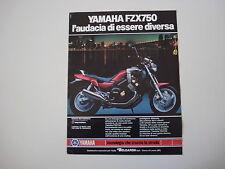 advertising Pubblicità 1987 MOTO YAMAHA FZX 750
