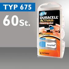 Piles Pour Prothèses Auditives 60 Duracell De Batterie De l'Aide Auditive DA 675