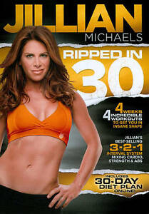 Jillian Michaels Workout DVD Authentic Ripped in 30 Diet Plan Included Brand New