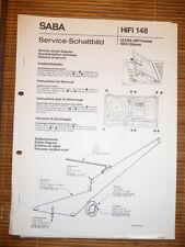 Service Schaltbild/Schema für Saba Ultra HiFi 9903 ,ORIGINAL!!!