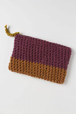 Anthropologie Pouch Clutch Small Bag Purse Handknit Colorblock By Deroucheau