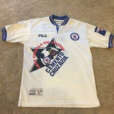 c4a244ed5 Vintage 90s Cruz Azul Mexico Fila Pepsi shirt jersey Men s Sz Large