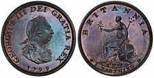 Great Britain. George III. 1799 Farthing, PCGS MS64BN. Lovely tone.