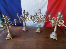 5 Arm French Vintage Brass Gold Candelabra Ref T21/47,48,49,50