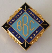 Barraba Bowling Club NSW Badge Rare Vintage (K10)