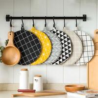Cotton Linen Round Heat Insulation Placemats Coasters Anti-Slip Dinner Table Mat