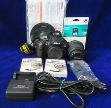 Nikon D3000 Digital Camera Battery Charger Strap Cable Tiffin Filter Memory Card