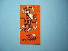 1965/66 IMPERIAL OIL ESSO NHL HOCKEY BROADCASTS SCHEDULE