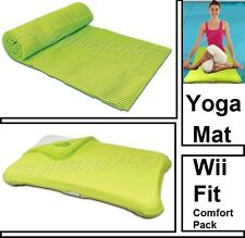 New Wii Fit Comfort Pack Yoga Exercise Mat Balance Board Silicone Green Cover