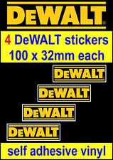 4 DeWALT Tools motorsport sponsor stickers toolbox workshop car van truck decal