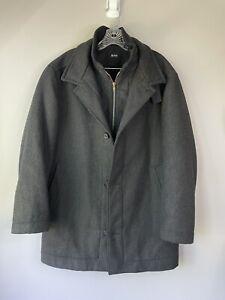 BOSS Hugo Boss Size 38R Pea Coat Wool Blend Jacket Gray