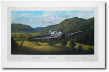 A Pack of Trouble by Ross Buckland - Me109 and P-47 Thunderbolt  - Aviation Art