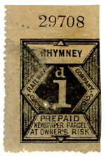 (I.B) Rhymney Railway : Newspaper Parcel 1d