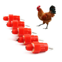 360 Angle Drinkers Poultry Farm Chicken Feeding 10Pcs Nipples Automaitic Waterer