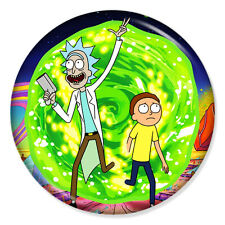 "RICK AND MORTY - PORTAL ARTWORK 25mm 1"" Pin Badge Button WUBBA LUBBA DUB DUB"