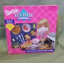 Barbie Fun Fixin' Dinner Set - Mattel #67431 New MIB NRFB 3-in-1 Super Set