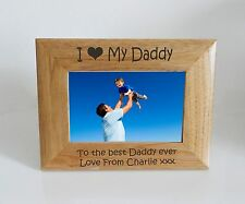 Daddy Photo Frame  - I heart-Love My Daddy 6 x 4 Photo Frame - Free Engraving