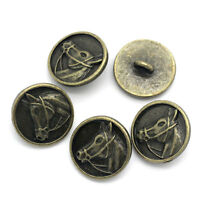 LOVE Metal Buttons Sewing Knots Round Bronze 17mm B37314 100x